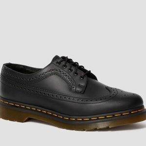3989 YELLOW STITCH SMOOTH LEATHER BROGUE SHOES